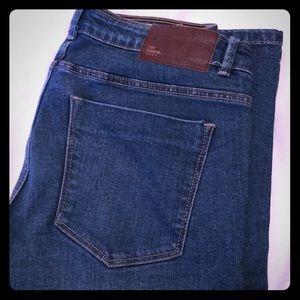 Zara medium wash denim jeans